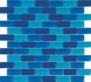 Cyprus 1″ x 2″ (Island Blends) Glass Pool Tile