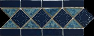 Atlantic Blue 6″ x 13″ (Listello Series) Porcelain Pool Tile
