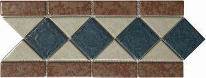 Ocean Gold 6″ x 13″ (Listello Series) Porcelain Pool Tile