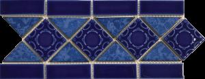Pacific Blue 6″ x 13″ (Listello Series) Porcelain Pool Tile
