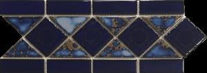 Terra Blue 6″ x 13″ (Listello Series) Porcelain Pool Tile