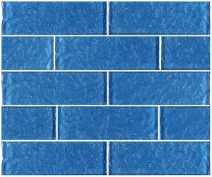 Blue 2″ x 6″ (Moonscape Series) Glass Pool Tile