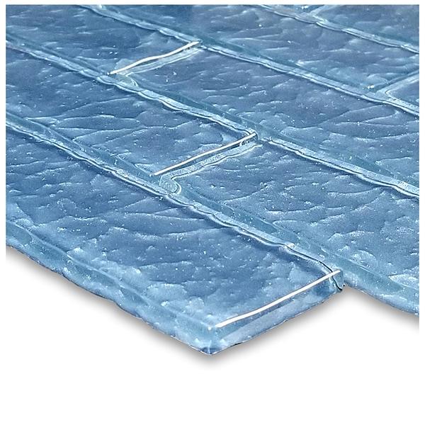 Steel Blue 2″ x 6″ (Moonscape Series) Glass Pool Tile
