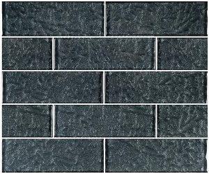 Black 2″ x 6″ (Moonscape Series) Glass Pool Tile