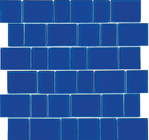 Capri Blue Mixed (Malibu Series) Glass Pool Tile