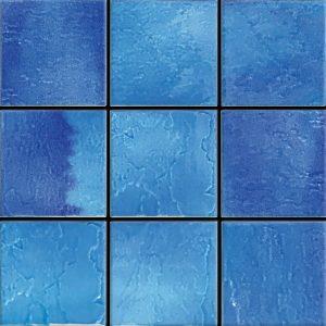 Indiano Azzurro 6″ x 6″ (Melange Series) Porcelain Pool Tile