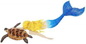 Mermaid with Turtle Pool Mosaics