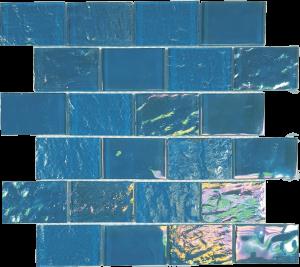 Bimini Blue 2″ x 3″ (Nautical Series) Glass Pool Tile