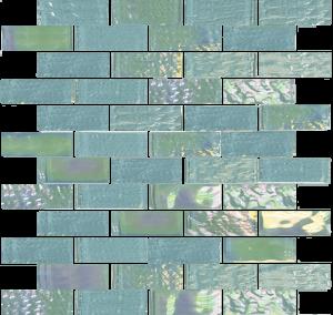 Emerald Green 1″ x 3″ (Nautical Series) Glass Pool Tile
