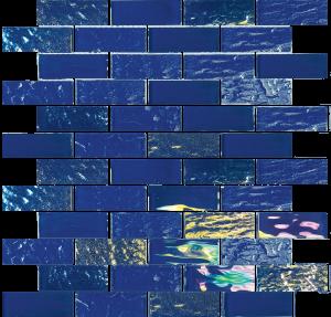 Naval Blue 1″ x 3″ (Nautical Series) Glass Pool Tile