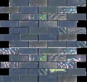 Thunder Gray 1″ x 3″ (Nautical Series) Glass Pool Tile