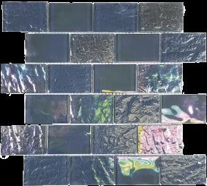 Thunder Gray 2″ x 3″ (Nautical Series) Glass Pool Tile