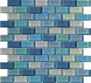 Blue Magic 1″ x 2″ (Lux Aqua Series) Glass Pool Tile