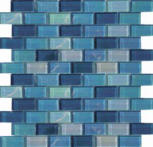 Shimmer 1″ x 2″ (Lux Aqua Series) Glass Pool Tile
