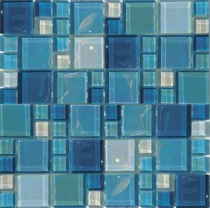 Shimmer Mixed (Lux Aqua Series) Glass Pool Tile