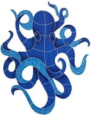 Small Octopus Pool Mosaics
