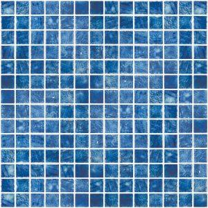Arrecife Blue 1″ x 1″ (Vanguard Series) Glass Pool Tile