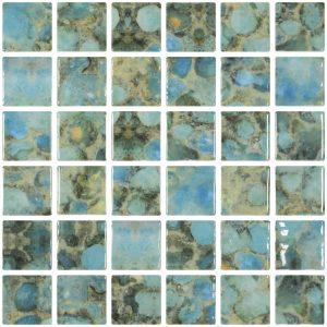 Rodas 2″ x 2″ (Vanguard Series) Glass Pool Tile