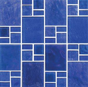 Cobalt Random (Piazza Series) Glass Pool Tile