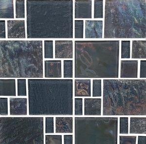 Grey Random (Piazza Series) Glass Pool Tile