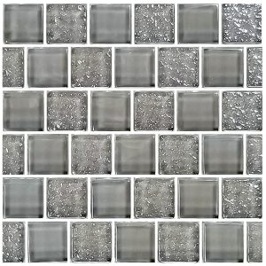 Gray 1″ x 1″ (Signature Series) Glass Pool Tile