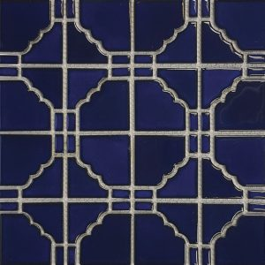 Cobalt Blue 6″ x 6″ (Sunburst Series) Porcelain Pool Tile