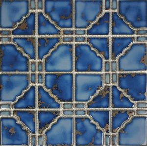Terra Blue 6″ x 6″ (Sunburst Series) Porcelain Pool Tile