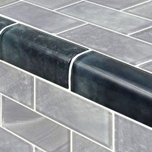 Trim Stratus Gray 2″ x 4″ (Subway Series) Glass Pool Tile