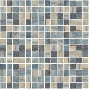 Indigo 1″ x 1″ (Woodland Series) Glass Pool Tile
