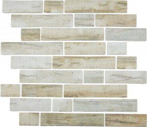 Cinnamon Multi-Linear (Bark Series) Glass Pool Tile