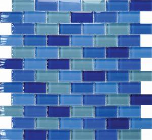 Samoa 1″ x 2″ (Island Blends) Glass Pool Tile