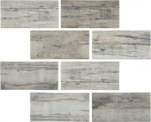 Linden 3″ x 6″ (Bark Series) Glass Pool Tile