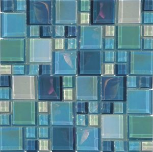 Blue Magic Mixed (Lux Aqua Series) Glass Pool Tile