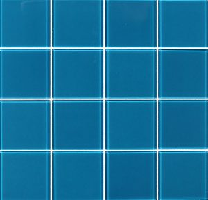 Turquoise 3″ x 3″ (Crystal Series) Glass Pool Tile