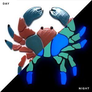 Glow in the Dark Crab Pool Mosaics