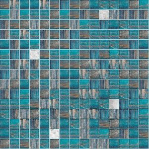 Shaggy 3/4″ x 3/4″ (Gold Series) Glass Pool Tile
