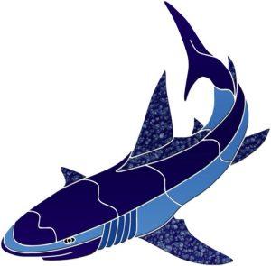 Shark 2 Pool Mosaics